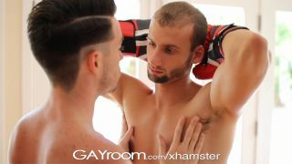 Gayroom boxing practice turns on two competitors