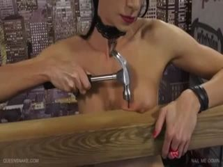 Tits nailed board