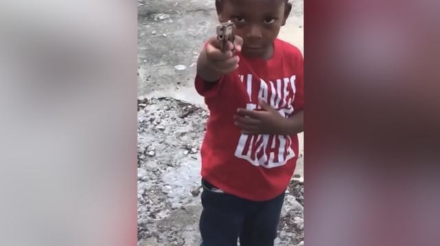 WATCH THIS: Little Boy Pulled A Gun On A Woman Because She Wouldn't Get Her Grandma That Snitched On Him!