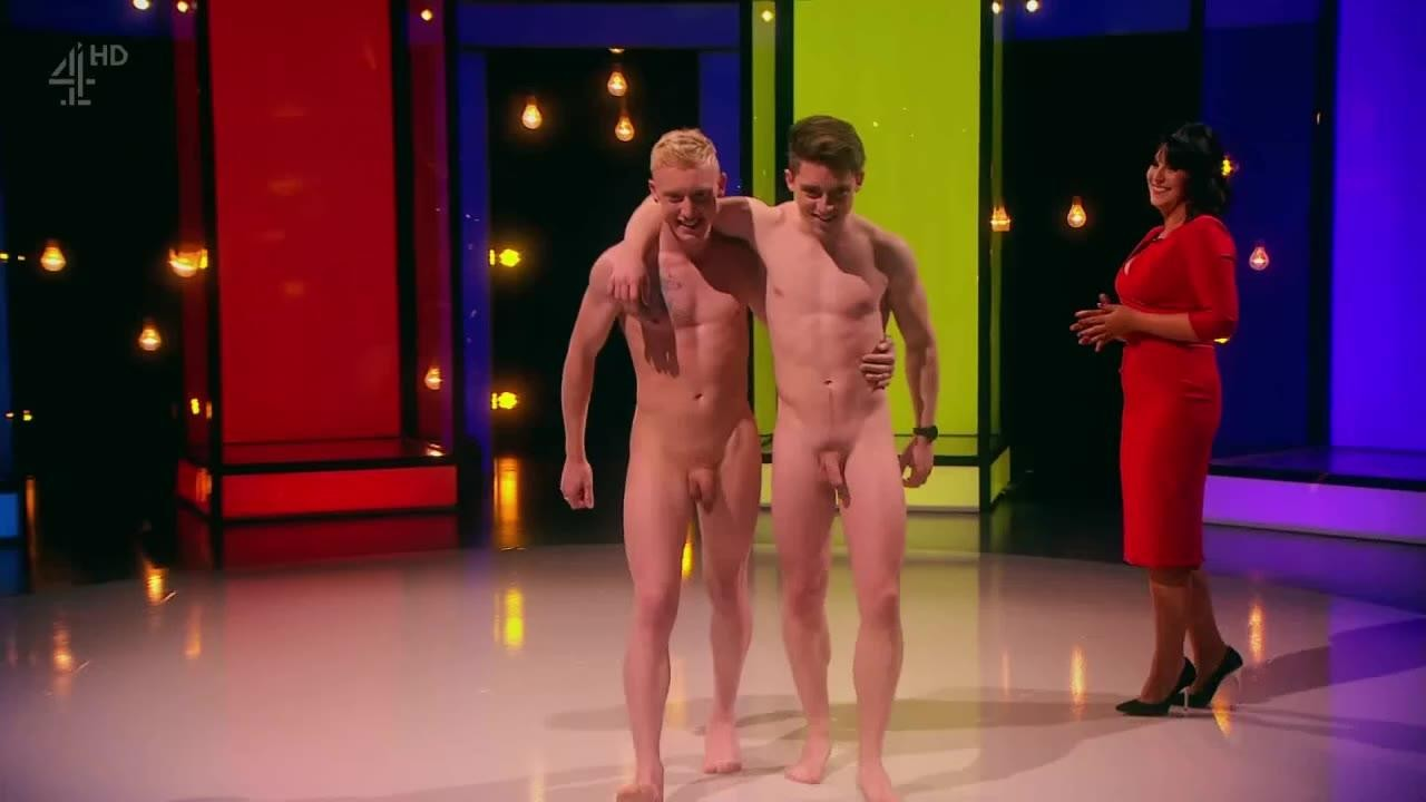 The man show nude
